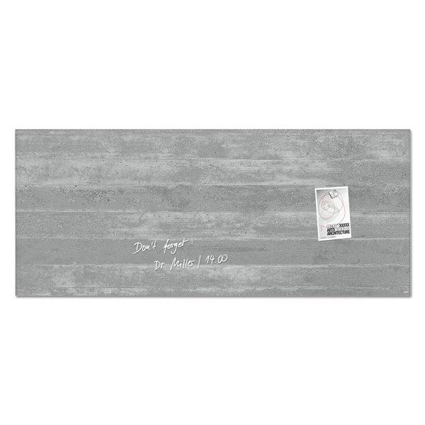 Sigel Artverum Magnetic Glass Board 1300x550mm Concrete