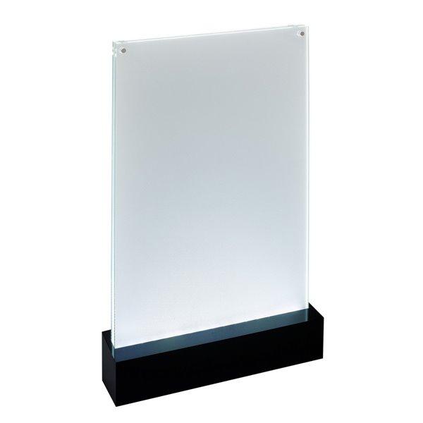 Sigel LED Table Top Display Frame A4 Black Base