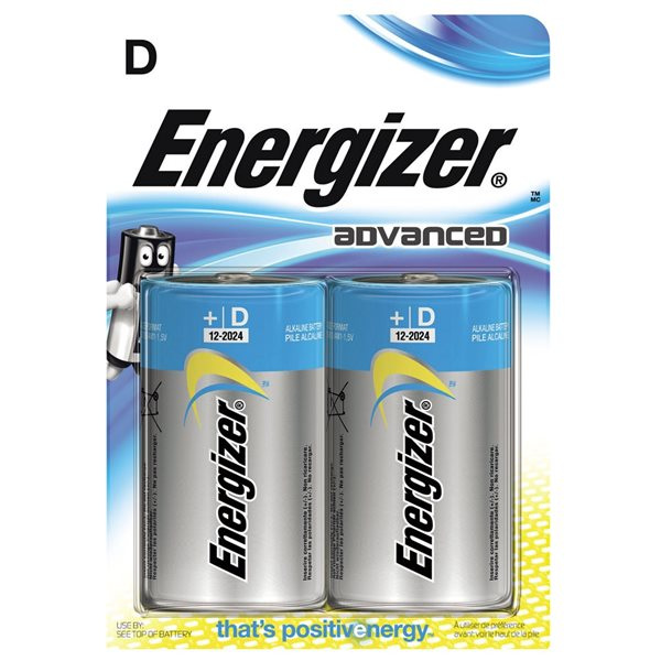 D Energizer Advanced E95/ D PK2