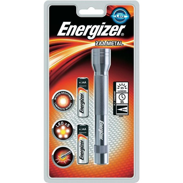 Handheld Energizer FL Metal LED Plus 2AA Torch