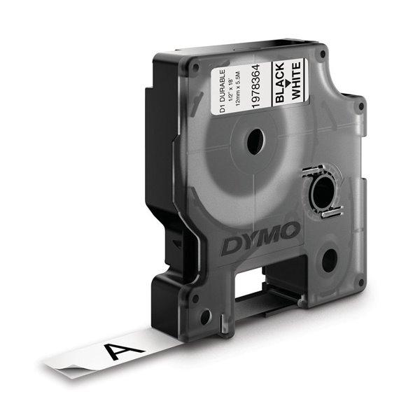 Dymo D1 Durable 12mm x 5.5M Black on White