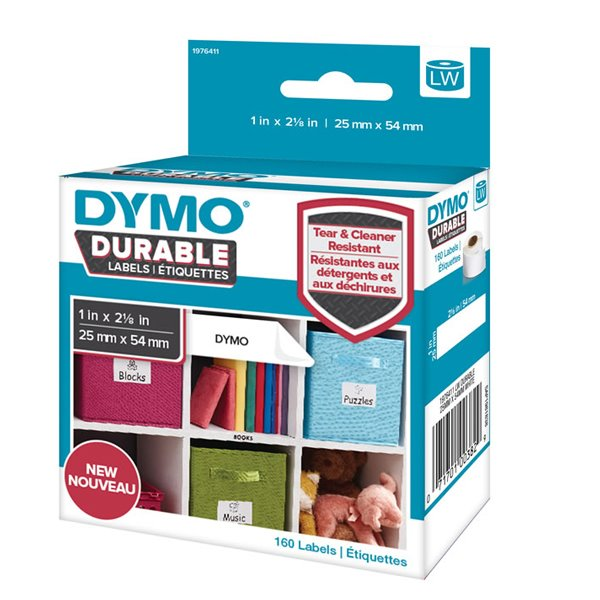 Dymo LW Durable 25mm x 54mm White Poly 160 Labels