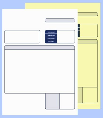 Sage Comp 2 Part Collated Invoice BX500