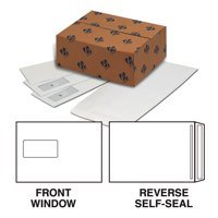 Plus Fabric Pocket Press Seal Window 120gsm C5 White PK500
