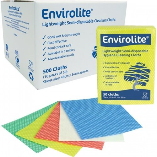 Envirolite Folded Cleaning Cloth Large (48x36cm) Green PK50