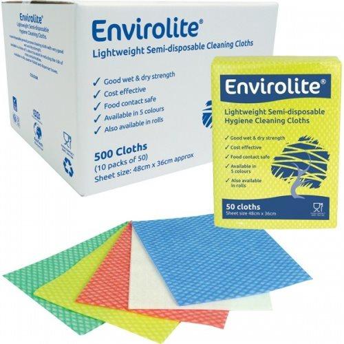 Envirolite Folded Cleaning Cloth Large (48x36cm) Green PK50