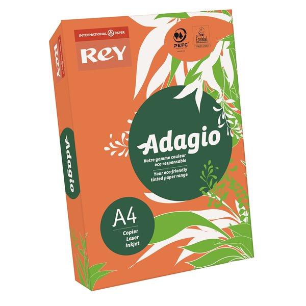 A4 Rey Adagio A4 Paper 80gsm Deep Orange RM500