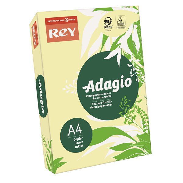 A4 Rey Adagio A4 Card 160gsm Canary RM250