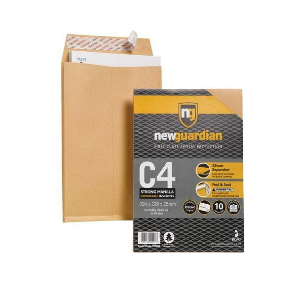 Gusset Envelopes New Guardian C4 Gusset Envelope 130gsm PK10