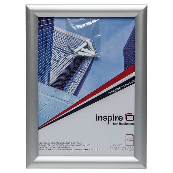 Certificate / Photo Frames Photo Album Co Inspire for Business A4 Aluminium Snap Frame