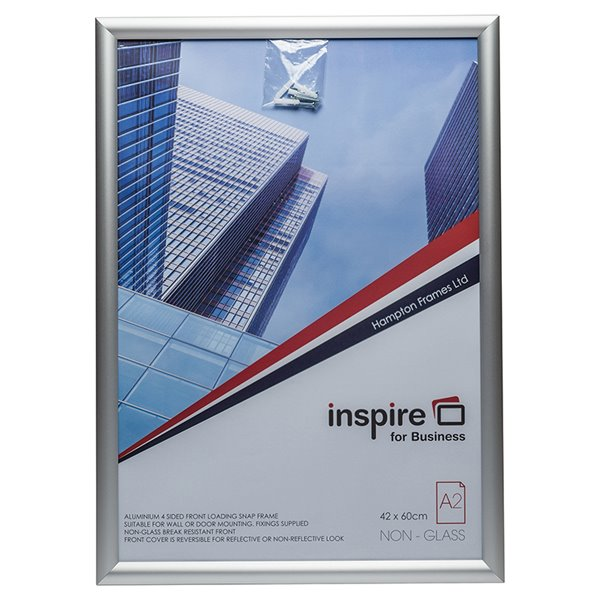 Certificate / Photo Frames Inspire for Business A2 Aluminium Snap Frame