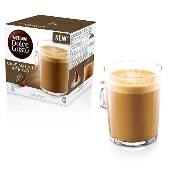 Nescafe Dolce Gusto Cafe Au Lait Intenso 16 capsules (Pack3)