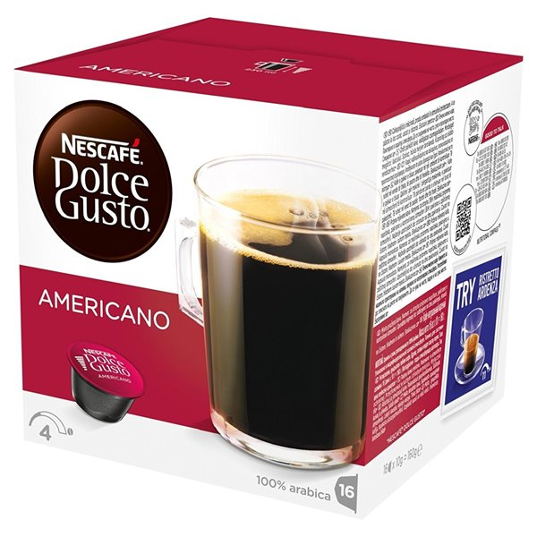 Necafe Dolce Gusto Cafe Americano 16 capsules (Pack 3)