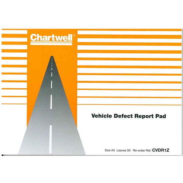 Vehicle Equipment / Supplies Chartwell Vehicle Defect Reporter Pad