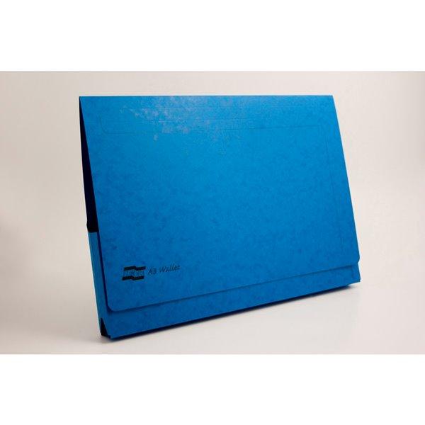 Document Wallets Europa Pocket Wallet A3 Blue PK25