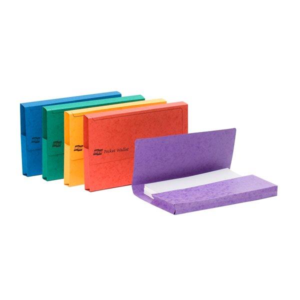 Document Wallets Europa Pocket Wallet Foolscap Assorted 4790Z (PK25)
