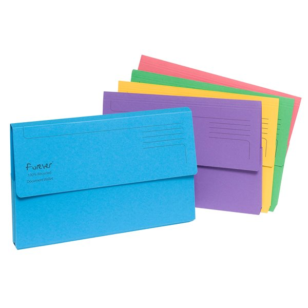 Document Wallets Forever Document Wallet Foolscap Assorted 211/5000Z (PK25)