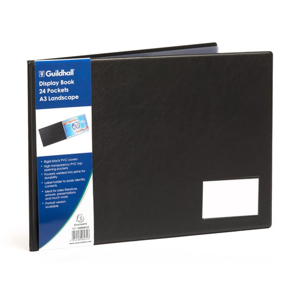 Display Books Goldline A3 Display Book Landscape 24 Pockets