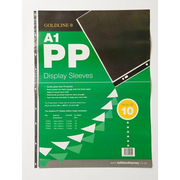 Goldline Polyprop Display Sleeves A1 9 Holes PDSA1Z (PK10)