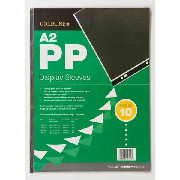 Goldline Polyprop Display Sleeves A2 6 Holes PDSA2Z (PK10)