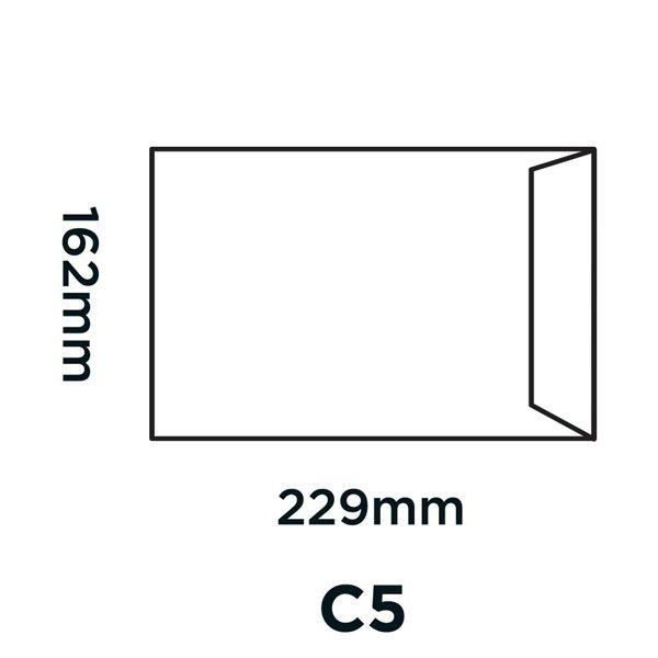 Purely Everyday Pocket Manilla Gummed C5 80gsm PK50