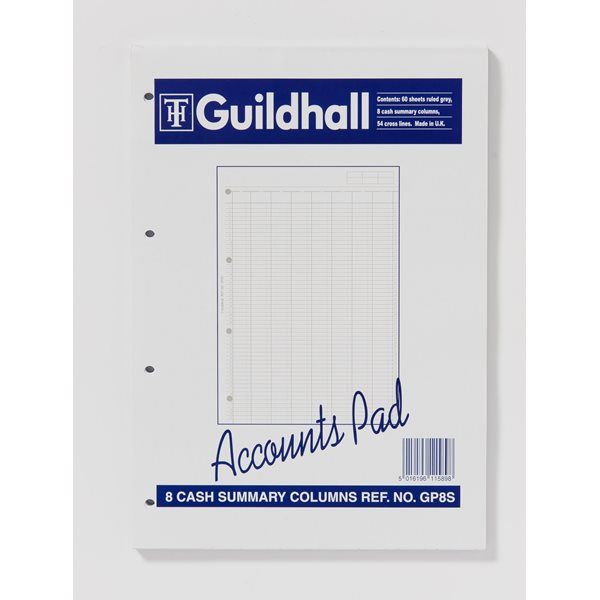 Guildhall Account Pad 8 Summary Column A4 60 Leaf GP8SZ