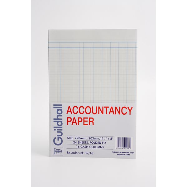 Guildhall Account Paper 16 Column 240 sheets 39/16Z