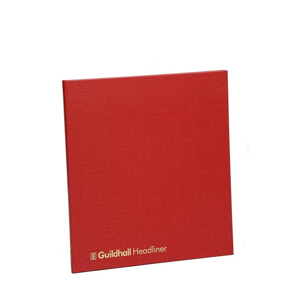 Guildhall Headliner Account Book 298x273mm 4 Deb 12 Cred 80P