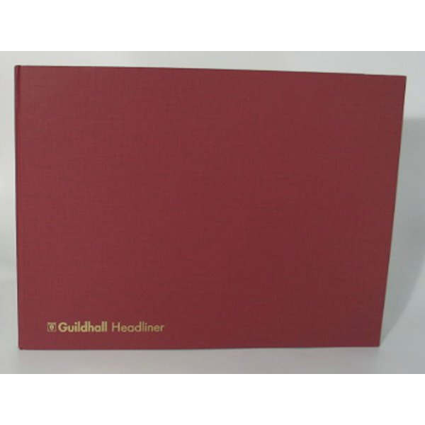Accounts Binders & Refills Guildhall Headliner Account Book 298x406mm 6 Deb 20 Cred 80P