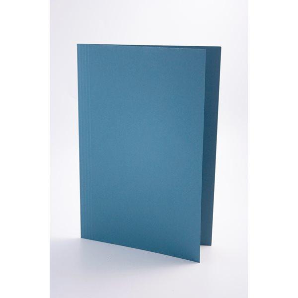 Guildhall Square Cut Folders Manilla Foolscap Blue PK100
