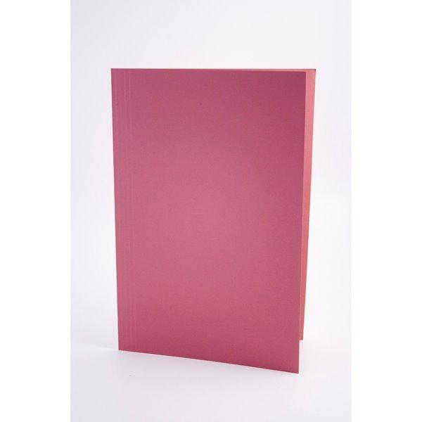 Guildhall Square Cut Folders Manilla Foolscap Pink PK100