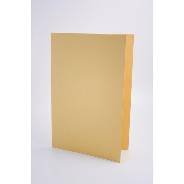 Guildhall Square Cut Folders Manilla Foolscap Yellow PK100