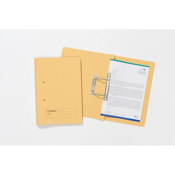 Square Cut Folders Guildhall Transfer Spiral File 355x245mm YW PK50