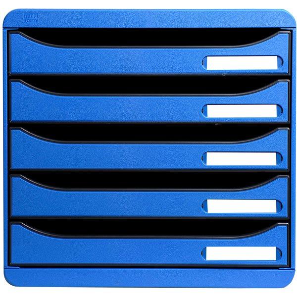 Drawers Exacompta Multiform A4 Plus Big Box 5-Drawer Set Ice Blue