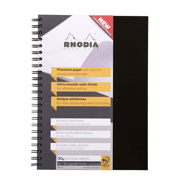 Rhodia Business Book A4 Hardback Wirebound 119232C - (PK3)