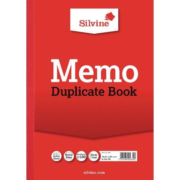 Silvine Duplicate Memo Book A4 PK6