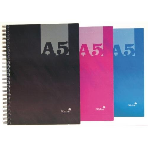 Spiral Note Books Silvine Lux Twinwire Hardback Notebook 140 Pages PK12