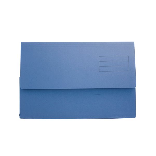 Popper Wallets Value Document Wallet Foolscap Blue PK50