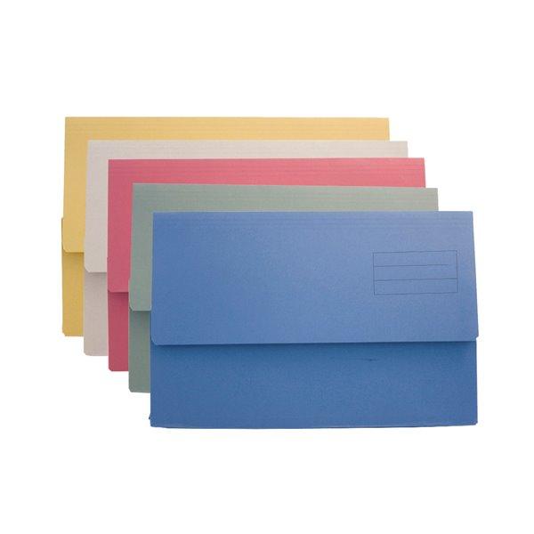 Popper Wallets Value Document Wallet Foolscap Assorted DW250-ASTZ (PK50)