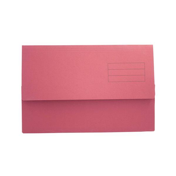 Popper Wallets Value Document Wallet Foolscap Red PK50