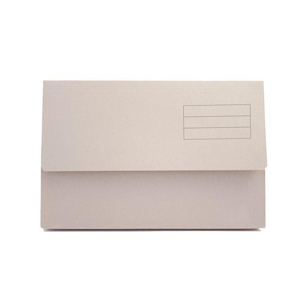 Popper Wallets Value Document Wallet Foolscap Buff PK50