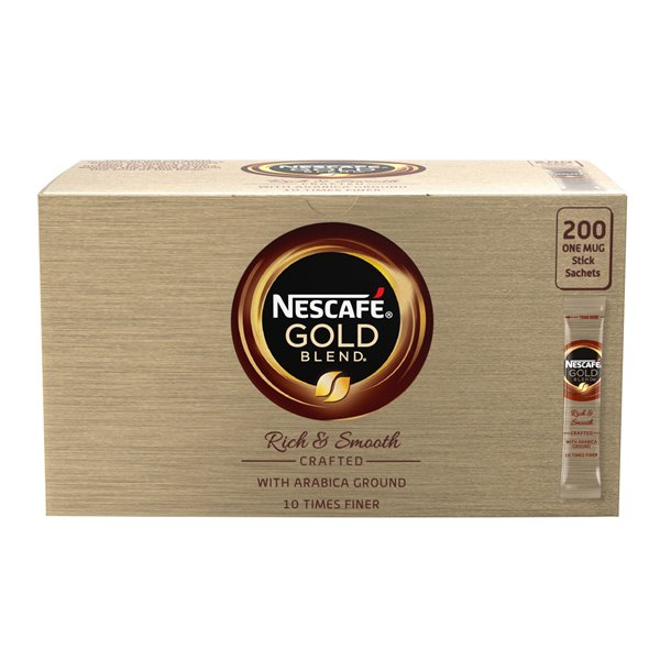 Coffee Nescafe Gold Blend One Cup Instant Coffee Stick (Pack 200)