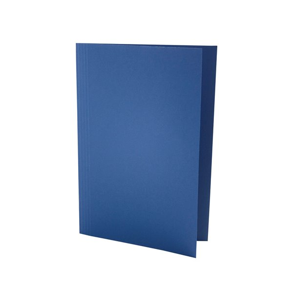 Square Cut Folders Value Square Cut Folder LightWeight Foolscap Blue PK100