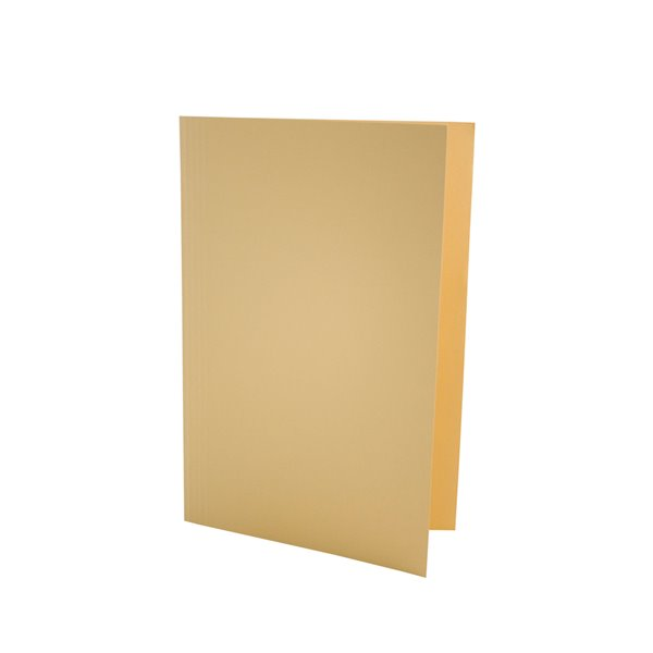 Square Cut Folders Value Square Cut Folder LightWeight Foolscap Yellw PK100