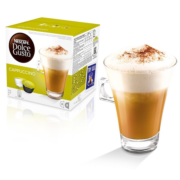 Coffee Nescafe Dolce Gusto Cappuccino 16 Capsules (Pack 3)