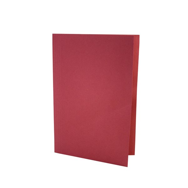 Square Cut Folders Value Square Cut Folder LightWeight Foolscap Red PK100