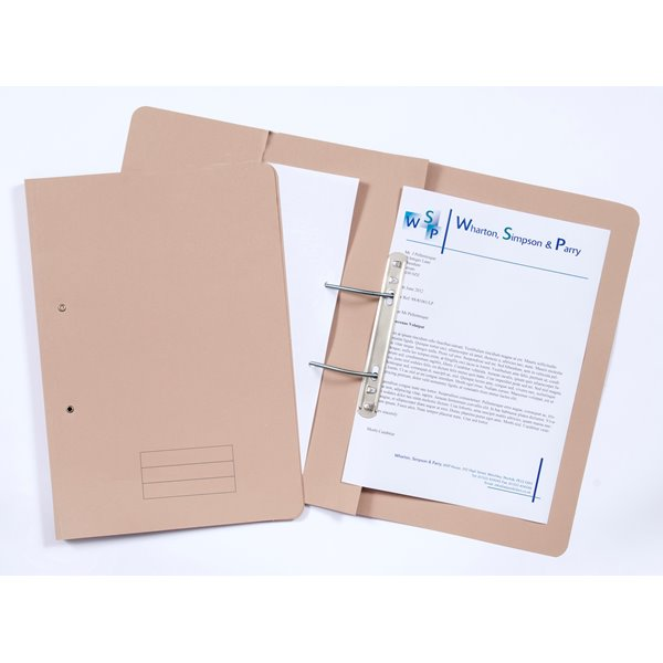 Document Wallets Value 285gsm Pocket Spiral File Foolscap Bluff PK25
