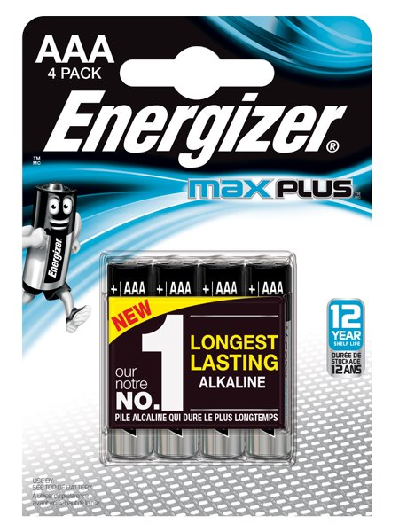 Energizer Max Plus AAA PK4