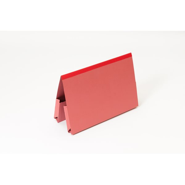 Guildhall Foolscap Double Pocket Legal Wallet Red PK25