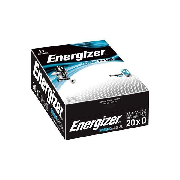 D Energizer Max Plus D PK20